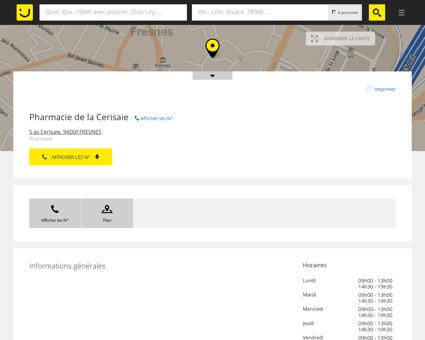 Pharmacie de la Cerisaie Fresnes (adresse,...