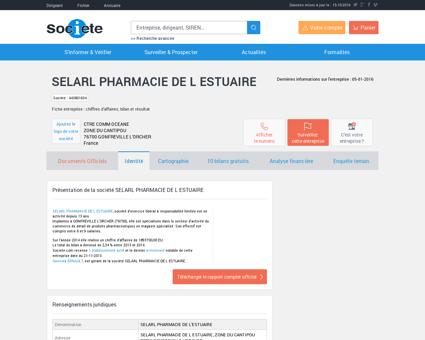 SELARL PHARMACIE DE L ESTUAIRE...