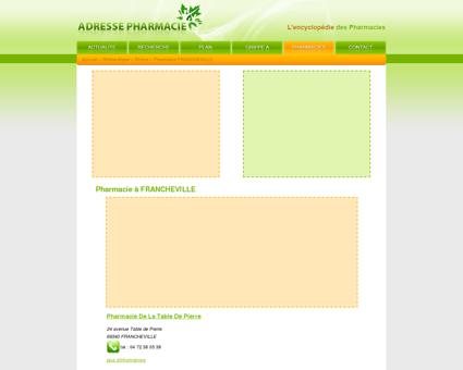 Pharmacie à FRANCHEVILLE - Pharmacie :...