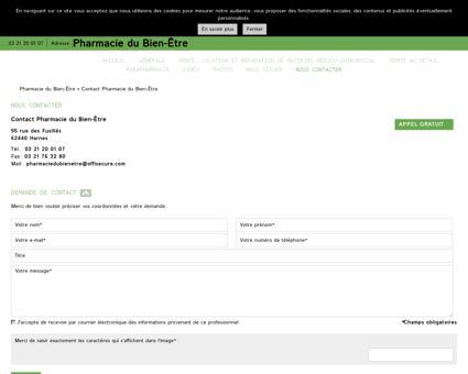 Contact Pharmacie du Bien-Être Harnes - 97...