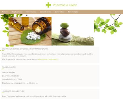 Pharmacie Galan - Accueil