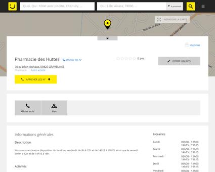 Pharmacie des Huttes Gravelines (adresse,...