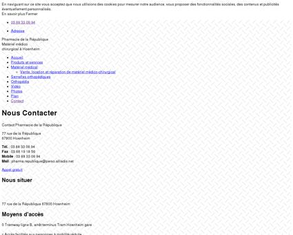Nous contacter - Pharmacie à Hoenheim (67)