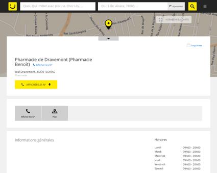 Pharmacie de Dravemont Floirac (adresse,...