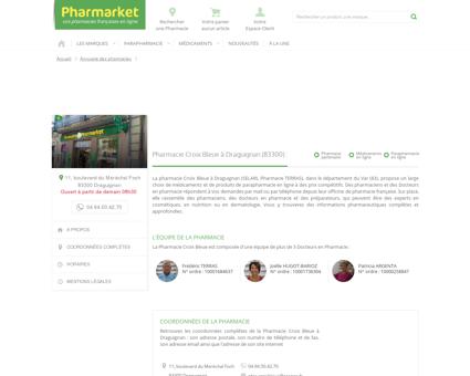 Pharmacie Croix Bleue à Draguignan (83300)