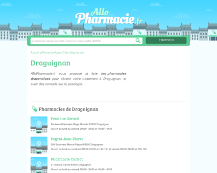 Pharmacies Draguignan - Officines 83300 -...