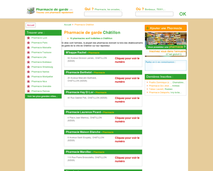 Pharmacie Châtillon
