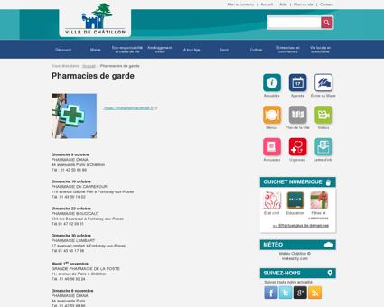Pharmacies de garde - Ville de Châtillon
