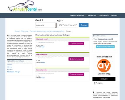 Pharmacies à Cologne et Parapharmacies