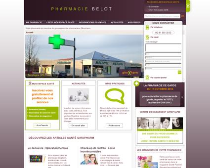 Pharmacien Giropharm  BELOT 25170...