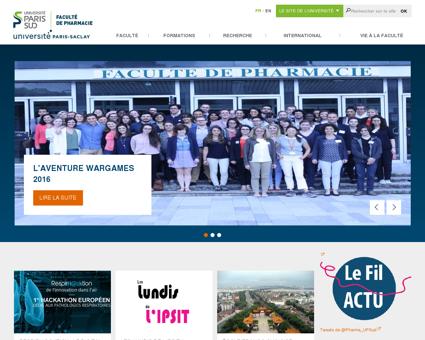 Page d'accueil de l'UFR Pharmacie de...