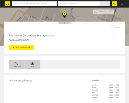 Pharmacie De La Croisière Cernay (adresse,...
