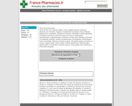 Pharmacies, pharmacie de garde - Dompierre...