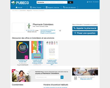Pharmacie Colombiers - Porte 34440...