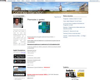 Pharmacies (+ gardes) : Comines-Warneton