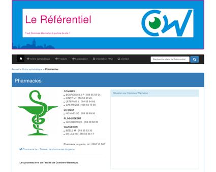 Pharmacies - Le Référentiel de Comines...