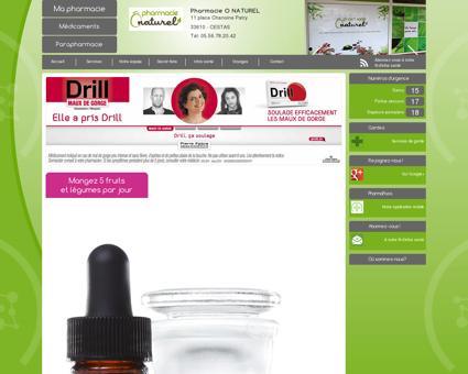 Accueil - Pharmacie O NATUREL