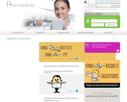 Bienvenue sur Pharmacie.be   Pharmacie.be