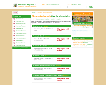 Pharmacie Castillon-la-bataille - Trouvez une...