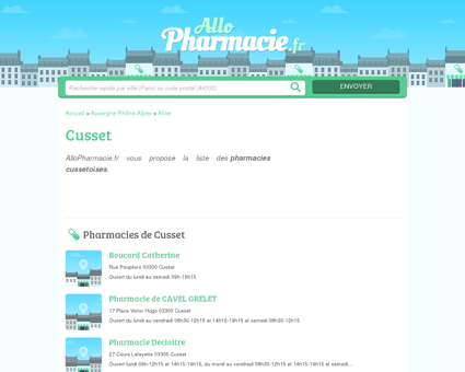 Pharmacies Cusset - Officines 03300 -...