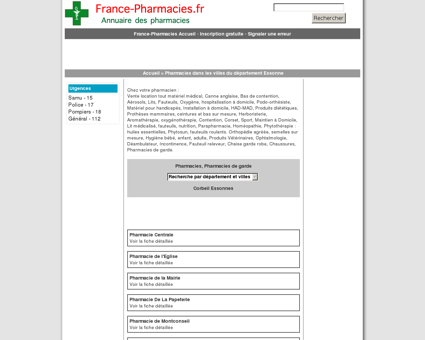 Pharmacies, pharmacie de garde - Corbeil...