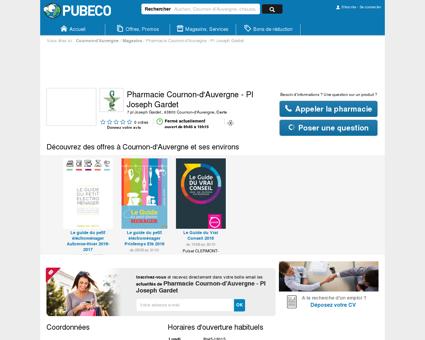 Pharmacie Cournon-d'Auvergne - Pl Joseph...