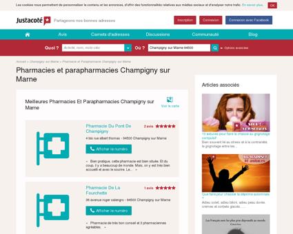 Pharmacies Champigny sur Marne 94500 -...