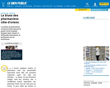 Côte d'Or | Le blues des pharmaciens côte...