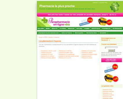 Les pharmacies à Cayenne en Guyane -...
