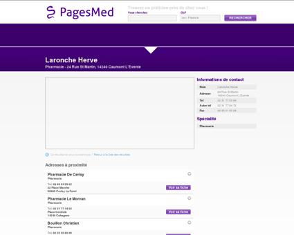 Laronche Herve, Pharmacie à Caumont...