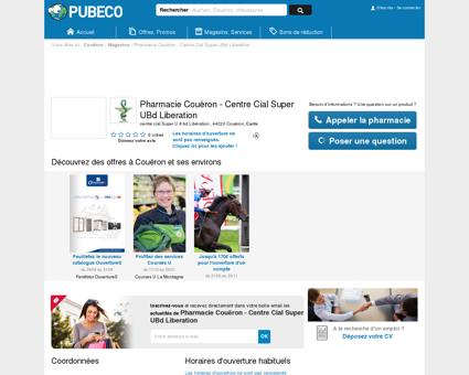 Pharmacie Couëron - Centre Cial Super UBd...