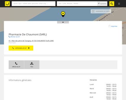 Pharmacie De Chaumont Chaumont sur Loire...