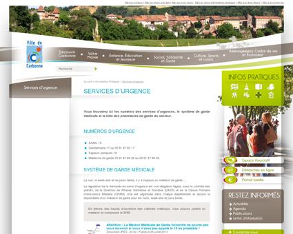 Mairie de Carbonne - Services d'urgence