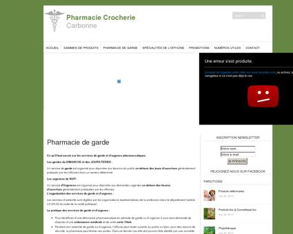 Pharmacie de garde - Pharmacie Crocherie |...