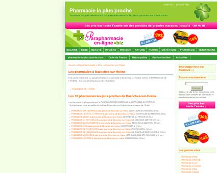 Les pharmacies à Bazoches-sur-Hoëne -...