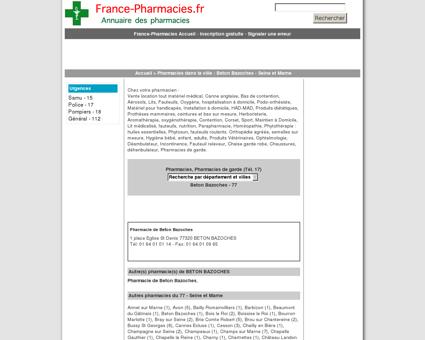 Pharmacie de Beton Bazoches - Beton...