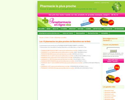 Les pharmacies à Bazoches-sur-le-Betz en Loiret