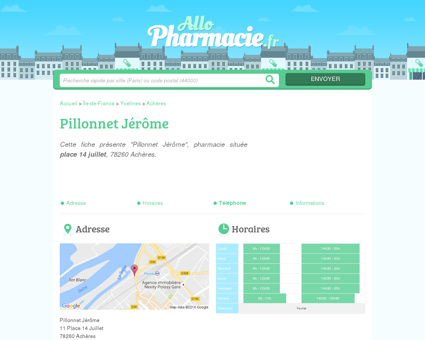 Pillonnet Jérôme - Pharmacie Achères (78260)