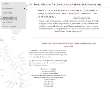 Présentation / Pharmacie Bondy / Pharmacie...