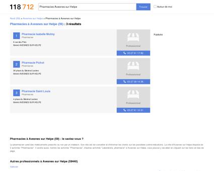 Pharmacies à Avesnes sur Helpe (59440) -...