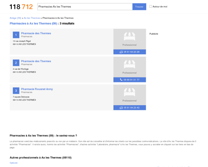 Pharmacies à Ax les Thermes (09110) -...