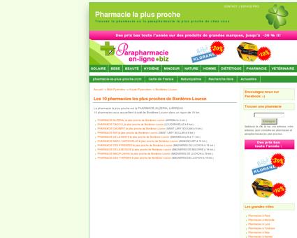 Les pharmacies à Bordères-Louron en Haute...