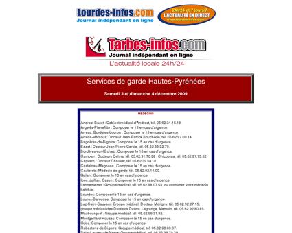 Services de Garde Hautes-Pyrénées - [ Site d ...