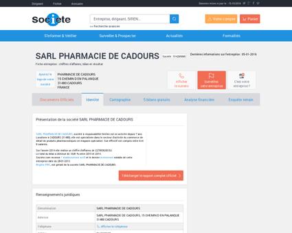 SARL PHARMACIE DE CADOURS (CADOURS)...