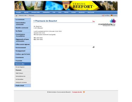 Beaufort - Pharmacie