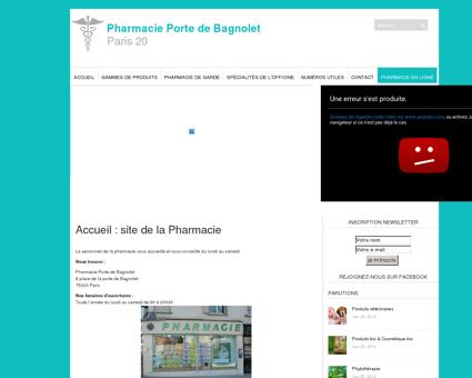 Pharmacie Porte de Bagnolet | Paris 20