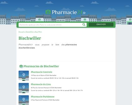 PHARMACIE BISCHWILLER - PHARMACIES...
