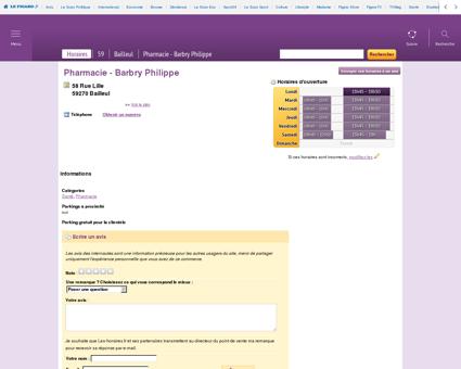Pharmacie - Barbry Philippe à Bailleul | Les...