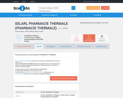 SELARL PHARMACIE THERMALE (BAGNERES...