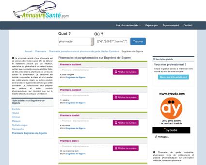Pharmacies à Bagnères-de-Bigorre et...